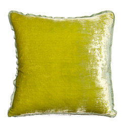 Velvet Citron Pillow
