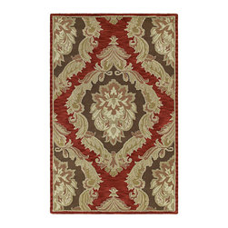 """Kaleen - Kaleen Khazana Collection 6572-57 2'3""""X7'6"""" Salsa - Craftsmanship and outstanding value is the definition of Khazana.  These fine rugs are hand tufted using only the finest 100% virgin wool and are available in a selection of classical or contemporary designs. The collection offers an array of fashionable colors to meet all your decorating needs. Hand crafted in India."""