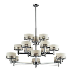 Z-Lite - Z-Lite Elea Chandelier X-HC-51-823 - The Elea family boasts a geometric pattern that combines pure white matte opal glass with a rich chrome finish delivering a fascinating contemporary design.