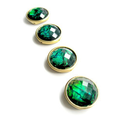 Pretty Little Things - Green with Envy Magnets Set of 4 - Make others jealous with these gorgeous green magnets!