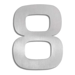 "Blomus - Signo Stainless Steel House Number - Now your guests won't moan about how they can't find your house. These stainless steel beauties stand up straight to all weather conditions — and wave a little ""hello"" to neighbors and passersby."