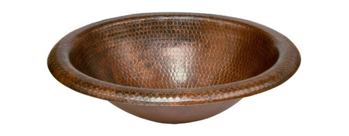 Premier Copper Products - Wide Rim Oval Self Rimming Copper Sink - Uncompromising quality, beauty, and functionality make up this Premier Wide Rim Oval Self Rimming Hammered Copper Bathroom Sink. Perfect for installing into an existing space in your Bathroom Vanity.