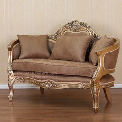 French Style Sofa 2 Seater (Spider Sofa) - French Style Sofa with white gold finish. The price is USD 449 with minimum order 1 x 20ft container or 30 - 35 pcs.