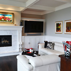 Contemporary Living Room by Kylie M Interiors