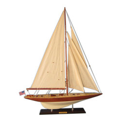"Handcrafted Model Ships - Lionheart Limited 35"" - Decorative Sailboat - Not a model ship kit"