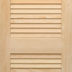 Authentic Wood Doors - Pine Full Louver with Lockrail 1-1/8 Slats