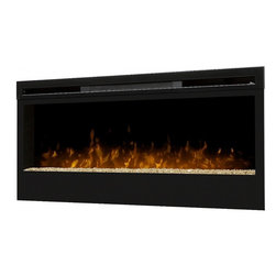 """Dimplex - Dimplex BLF74 74"""" Wall-Mount Electric Firebox Landscape - It's everything you would want from a real, burning fire -- light, ambiance, and a dazzling focal piece within virtually any indoor space. One of a series of innovative and breathtaking wall-mount fireboxes, the Galveston fireplace features a large 74-inch width viewing area and utilizes Dimplex's patented LED technology to produce a remarkably realistic illusion of a true fire. The Galveston firebox is safe to use and economically and environmentally efficient, producing no harmful particulates or emissions into the air and running perfectly on minimal energy, costing you just pennies a day. Equipped with a three-stage remote for easy control, you may choose to enjoy the ambiance of flames with or without heat, for year-round comfort and enjoyment."""