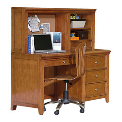 Lea Industries - Lea Willow Run 4-Drawer Desk with Hutch & Chair in Rich Toffee Brown - Willow Run is a clean, modern styled bedroom furniture and designed to appeal to almost everyone. Generous under top moldings, framed drawers and tapered feet give this group a sense of value and scale. Constructed with birch veneers and rubberwood solids in a welcoming Rich toffee brown color finish allows the grouping to fit most any room decor. The hardware options allow the look of the collection to change easily and adds even more versatility. Willow Run includes a large selection of bed and case options for any size room or budget. This collection is sure to fit the needs and style of many settings from youth to 2nd bedroom and even smaller master bedrooms.