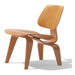 Charles & Ray Eames - Herman Miller Eames Plywood Lounge Chair - Eames Plywood Lounge Chair by Herman Miller  designed by Charles and Ray Eames   At A Glance: At the risk of outrageous hyperbole, this is probably the greatest chair ever made. Okay, okay, stop rolling your eyes and come back. Here's the checklist:  1) Greatest pair of furniture designers in American history, Charles and Ray Eames, built it.   2) Possibly the greatest furniture design invention of the last century, molded plywood, was invented for this particular product.  3) Absolutely gorgeous, yet playful and not at all intimidating.  4) In 1999, Time Magazine rated it the best design of the century     What's To Like: You heard the part about greatest chair ever designed, right?    What's Not to Like: One possible reason not to buy- if you don't want to sit low to the ground, then this chair is not for you. It's a