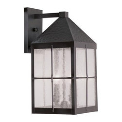 Livex Lighting - Livex Brighton Outdoor Wall Lantern Hammered Bronze Finish -2682-07 - Livex products are highly detailed and meticulously finished by some of the best craftsmen in the business