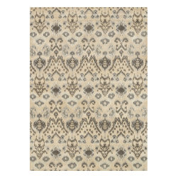 """Loloi Rugs - Loloi Rugs Leyda Collection - Cream / Grey, 7'-10"""" x 11' - Transform your home into a designer haven with the chic Leyda Collection of Ikat patterns. Whether you are looking for an interior that is soft and subtle or bold and dramatic, the Leyda Collection has an option to fit your personal style. Hand-tufted in India of 100-percent wool, these striking rugs come in up-to-date blue, ivory/multi, black/light gold, red/multi, midnight, cream/gray, ivory, light gold and gray/denim. Leyda is the makeover you have been dreaming about."""