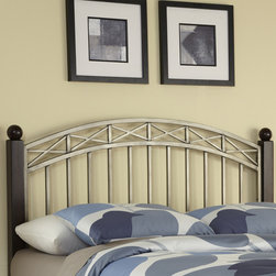 None - Bordeaux Queen/ Full Headboard - Updating the look of your bedroom will be easy with this Bordeaux French country headboard. It has a modern look that is sure to match well with any bedroom furniture. The espresso and pewter color will look great with any color scheme.