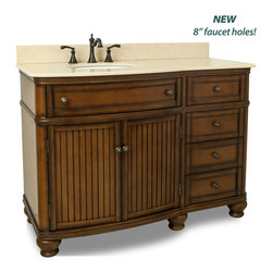Hardware Resources - Compton Walnut 48 in. Single Vanity - Compton Walnut 48 inch Single Vanity with Preassembled Top and Bowl by Bath Elements