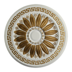 uDecor - MD-7229-C1 Ceiling Medallion - Ceiling medallions and domes are manufactured with a dense architectural polyurethane compound (not Styrofoam) that allows it to be semi-flexible and 100% waterproof. This material is delivered pre-primed for paint. It is installed with architectural adhesive and/or finish nails. It can also be finished with caulk, spackle and your choice of paint, just like wood or MDF. A major advantage of polyurethane is that it will not expand, constrict or warp over time with changes in temperature or humidity. It's safe to install in rooms with the presence of moisture like bathrooms and kitchens. This product will not encourage the growth of mold or mildew, and it will never rot.