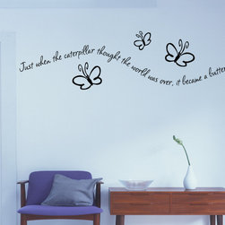 Caterpillar Vinyl Wall Decal c015, Beige, 18 in. - Vinyl Wall Quotes are an awesome way to bring a room to life!