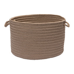 """Colonial Mills - Brooklyn Storage Basket - Natural, 18"""" x 12"""" - Modern storage in earth friendly colors. This braided storage basket is made of 100% Polypropylene, making it big on durability, low on maintenance and high on storage solutions."""