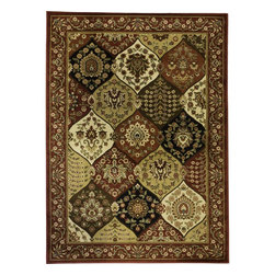 None - Wentworth Panel Area Rug (5'3 x 7'3) - Buy this delightful carpet for your room that is divided into jewel-like patterns. The red,beige,and white panel rug is made of durable polypropylene for a clean,smooth look. This is the perfect addition to traditional,aesthetic rooms.