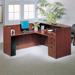 Boss Chairs - Boss Chairs Boss Office Suites in Cherry - The reception desk shell can be used alone or in conjunction with other reception items. This Cherry unit make a good first impression every time.
