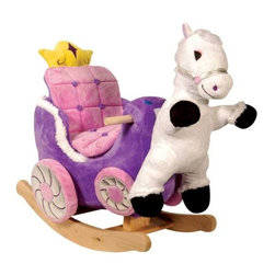 Fifthroom - Plush Princess Carriage Rocker - A carriage fit for a princess.  Your little princess will delight from her cozy seat while her royal pony jumps for joy.  Plays teaching songs.  Easy clean up with mild soap and water.