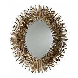 Arteriors - Arteriors 6561 Prescott Large Antiqued Gold Leaf Iron Mirror - Arteriors 6561 Prescott Large Antiqued Gold Leaf Iron Mirror