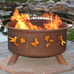 Flower & Garden Fire Pit - The Flower & Garden Fire Pit is an essential for any garden enthusiast. This beautifully handcrafted fire pit is the perfect accent to any patio or backyard. The Flower & Garden Fire Pit is equipped a barbeque grill, essential for grilling with friends, so be ready for your next gathering with the Flower & Garden Fire Pit!