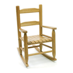Lipper - Child's Rocking Chair - Color/Finish: Natural. Material: Wood/MDF. 24.5 in. L x 14.5 in. W x 5.5 in. H (1.47 lbs)
