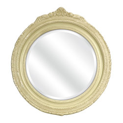 Vintage Chic Designer Beaufort Wall Mirror - *In true fashion, Ella Elaine has brought us another treasure of vintage inspiration. With intricate detailing in the carved frame and a beautifully distressed finish, the Beaufort wall mirror will add texture and charm to your walls.