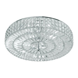 Crystorama Lighting Group - Crystorama Lighting Group 818-CL-MWP Six Light Majestic Wood Polished Crystal Se - Crystorama 818-CL-MWP Six Light Semi-Flush Ceiling Fixture from the Cortland Collection