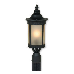 post light light up your front yard with a stately outdoor lamp post. Black Bedroom Furniture Sets. Home Design Ideas