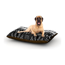 "Kess InHouse - Nina May ""Century City Splatter"" Black White Fleece Dog Bed (50"" x 60"") - Pets deserve to be as comfortable as their humans! These dog beds not only give your pet the utmost comfort with their fleece cozy top but they match your house and decor! Kess Inhouse gives your pet some style by adding vivaciously artistic work onto their favorite place to lay, their bed! What's the best part? These are totally machine washable, just unzip the cover and throw it in the washing machine!"