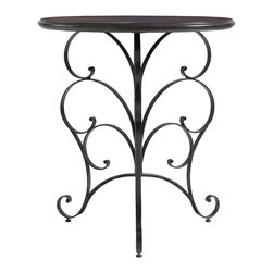 Stanley Furniture - Charleston Regency Ribbon Scroll End Table - Intricately designed Ribbon Scroll End Table will make a remarkable addition to any home. It is true artistic tribute that is designed to keep beauty and utility objects together. The metallic construction and hand-rubbed finish of this classic piece will add a distinctive flair to your interiors.