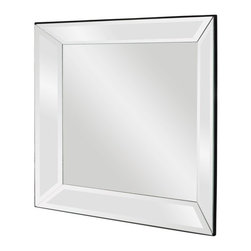 Howard Elliott - Howard Elliott 65018 Vogue Square Mirror on Mirror Mirror w/ Beveled Pitched Fra - Mirror on Mirror Mirror w/ Beveled Pitched Frame belongs to Vogue Collection by Howard Elliott This gorgeous Vogue mirror features a mirror on mirror with a beveled pitched frame. Mirror (1)