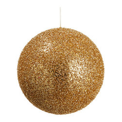 Silk Plants Direct - Silk Plants Direct Glitter Ball Ornament (Pack of 8) - Gold - Pack of 8. Silk Plants Direct specializes in manufacturing, design and supply of the most life-like, premium quality artificial plants, trees, flowers, arrangements, topiaries and containers for home, office and commercial use. Our Glitter Ball Ornament includes the following: