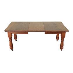 Antiques - Antique Oak Victorian 6Ft Dining Table - Quarter sawn oak finish