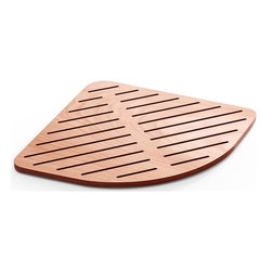 WS Bath Collections - 25.2 in. Shower Mat in Marine Plywood - Modern/contemporary design. Water Resistant. For Use Inside or Outside of Shower. Designer High End Quality. Warranty: One year. Made from solid okume wood. Made by Lineabeta of Italy. No assembly required. 25.2 in. L x 25.2 in. W x 0.8 in. H (10 lbs.). Spec SheetUnique and fine bath accessories and complements, that provide inspirational solutions for every decor.