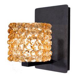 WAC Lighting - WAC Lighting WS58LED-G539 Mini Haven Crystal Bead Shade Integral Dimming LED Wal - Features: