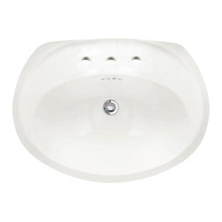 "American Standard - Ellisse Petite 24"" Self-Rimming Bathroom Sink with 8"" Centers in White - American Standard 0411.039.020 Ellisse Petite 24"" Self-Rimming Bathroom Sink with 8"" Centers in White."