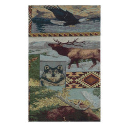 """Blazing Needles - Blazing Needles Tapestry Full Size Futon Cover in the Wild North-9"""" and 10"""" Full - Blazing Needles - Futon Covers - 9688/T53 - Blazing Needles Designs has been known as one of the oldest indoor and outdoor cushions manufacturers in the United States for over 23 years."""