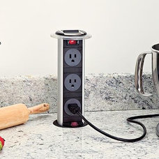 Contemporary Kitchen Products Hidden Power Outlet