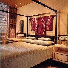 Asian Bedroom by MICHAEL PETER DESIGN ASSOCIATES INC