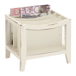 ecWorld - Urban Designs Weathered Wooden Magazine Rack - Beige - Perfect for storing magazines, books, and other reading materials in a stylish and discreet manner, this unit makes a great addition to contemporary living areas, offices or waiting rooms.