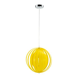 Modway - Modway EEI-318 Brush Acrylic Pendant Light in Yellow - There are artisans who pride themselves on the detailed and meticulous nature of their creations. Then there are the free-thinkers among even these creatives, who resolutely shed the light of their artistry in an unplanned and spontaneous fashion. It was for this latter class that the Brush modern ceiling pendant was intended. Brush is made of acrylic strips that are fully arrangeable according to your current mood and inklings. Diffuse light through your pattern of choice, with a 60 watt bulb that imbues an illumination to match your acumen for the novel.