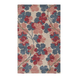 Surya - Surya Paule Marrot Hand Tufted Parchment Wool Rug, 2' x 3' - Inspired by the French textile artist, the Paule Marrot collection artfully translates the ideals of its namesake to create hand tufted rugs from 1% New Zealand wool. Marrot's fresh, colorful, spontaneous designs have always been synonymous with a wonderful sense of joie de vivre.   Imported.Material: 100% New Zealand WoolCare Instructions: Blot Stains