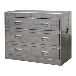 Whitman Medium Metal Chest 4 Drawer