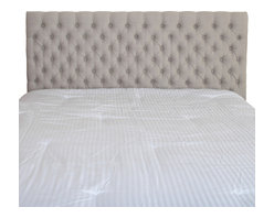 Great Deal Furniture - Holland Queen/Full Headboard, Sand - Dress up your bedroom with this elegantly designed headboard. This French inspired headboard is button tufted and can attach to almost any queen or full metal frame bed, as well as adjust according to the height of your mattress.