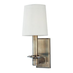 Hudson Valley Lighting - Hudson Valley Lighting 151 Single Light Up Lighting Solid Brass Wallchiere Sconc - Traditional / Classic Single Light Up Lighting Solid Brass Wallchiere Sconce with Cone Shaped Shade from the Spencer CollectionSpencer Collection Single Light Up Lighting Wallchiere Sconce with Cone Shaped Shade.Features: