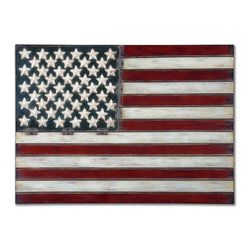 Uttermost - Uttermost 13480 American Flag Wall Art - Uttermost 13480 Grace Feyock American Flag Wall ArtMade of hand forged metal, this wall art is finished in aged red, white and blue with black tipping.Features: