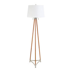 """Globe Electric - Globe Electric 11790 Wood 63"""" 2 Light Floor Lamp - Features:"""
