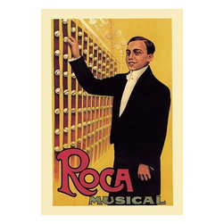 """Buyenlarge.com, Inc. - Roca Musical- Paper Poster 12"""" x 18"""" - Another high quality vintage art reproduction by Buyenlarge. One of many rare and wonderful images brought forward in time. I hope they bring you pleasure each and every time you look at them."""