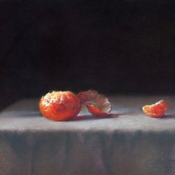 Still Life With Tangerine (Original) by Sabrina Zhou - This is an original pastel painting.